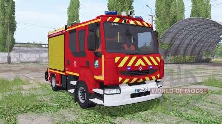 Renault Midlum Crew Cab Firetruck for Farming Simulator 2017