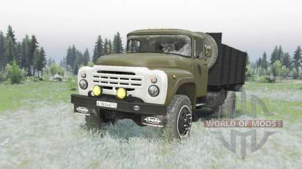 ZIL 130 4x4 green for Spin Tires