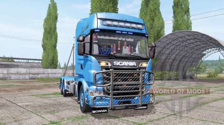 Scania R730 V8 Topline hooklift v1.0.4.5 for Farming Simulator 2017