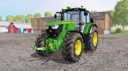 John Deere 6170M dirty tires for Farming Simulator 2015