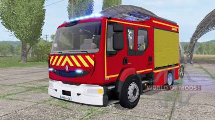 Renault Midlum Crew Cab 4x2 firetruck 2006 for Farming Simulator 2017