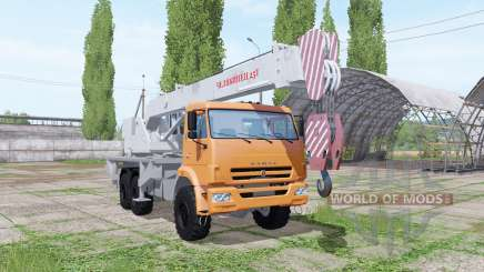 KAMAZ 65222 crane Chelyabinets for Farming Simulator 2017