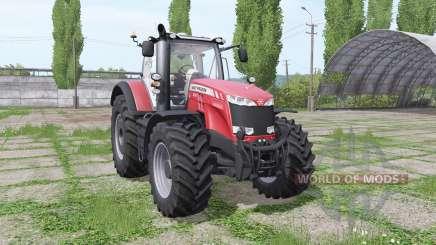 Massey Ferguson 8737 red for Farming Simulator 2017
