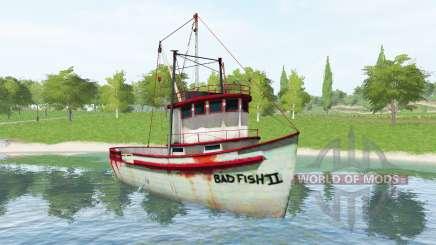 Fishing vessel v1.2 for Farming Simulator 2017