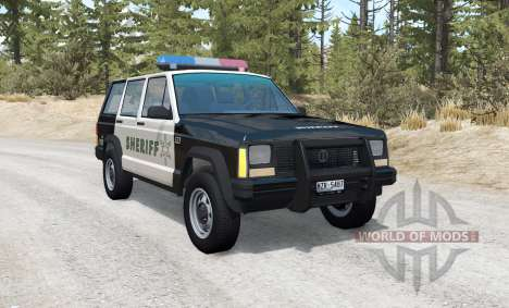 Jeep Cherokee Police skins pack for BeamNG Drive