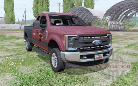 Ford F-250 Rock City Fire Department for Farming Simulator 2017