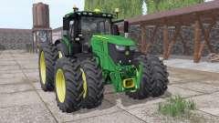 John Deere 6250R twin narrow wheels for Farming Simulator 2017