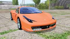 Ferrari 458 Italia multicolor v1.1 for Farming Simulator 2017