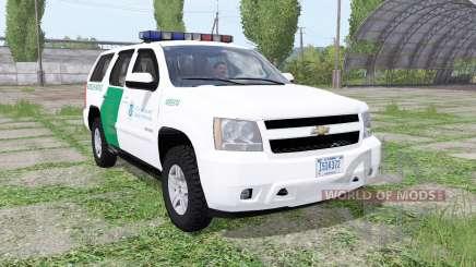 Chevrolet Tahoe (GMT900) 2007 US Border Patrol for Farming Simulator 2017