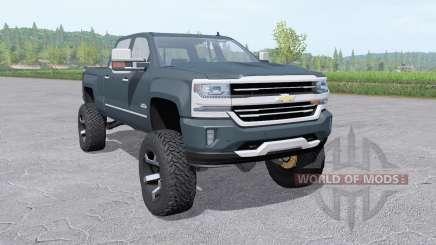 Chevrolet Silverado 1500 High Country 2016 lift for Farming Simulator 2017