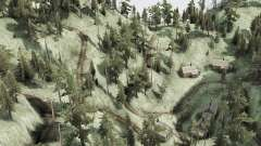 Curved mountain road for MudRunner