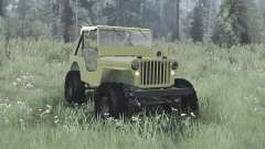 Willys MB off-road green for MudRunner