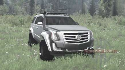 Cadillac Escalade (GMTK2XL) 2015 off-road for MudRunner