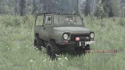 LuAZ 969M 4x4 for MudRunner