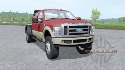 Ford F-350 Super Duty Crew Cab flatbed for Farming Simulator 2017