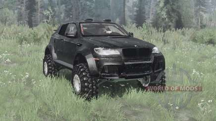 BMW X6 M (E71) 2009 lifted for MudRunner