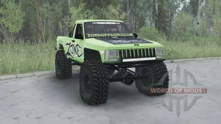 Jeep Comanche (MJ) 1984 lifted for MudRunner